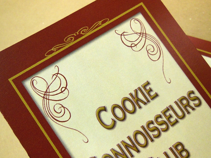 Cookie Connoisseur's Club Menu