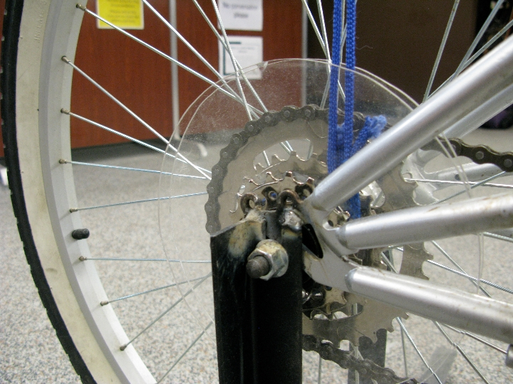 Pulley Wedgie http://willkrause.com/2009/10/10/silent-library-wedgie-bike/