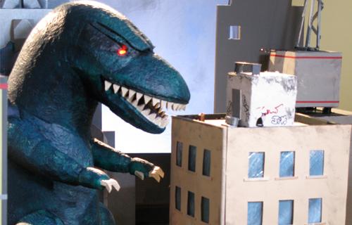 Godzilla-like Puppet