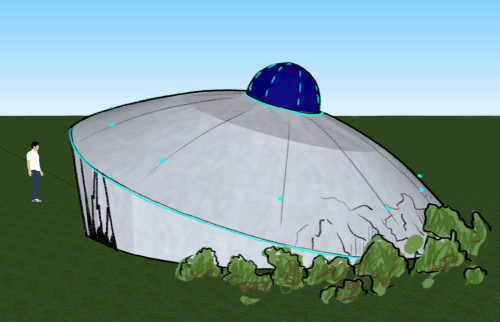 Googleween – Spaceship fabric structure